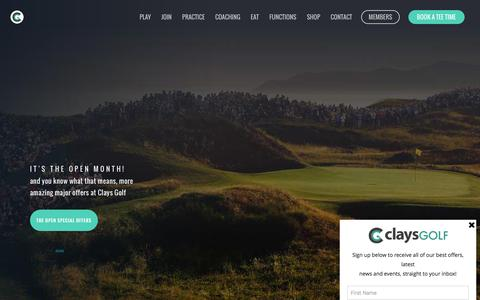 Screenshot of Home Page claysgolf.co.uk - Clays Golf Course Wrexham | Driving Range & American Golf Store - captured July 13, 2016