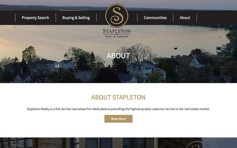 Screenshot of About Page stapletonrealty.com - About Stapleton | Appraisal & Realty | Stapleton Realty - captured Oct. 18, 2018