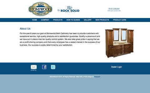 Screenshot of About Page rocksolidsupply.com - About Us - captured Oct. 9, 2014