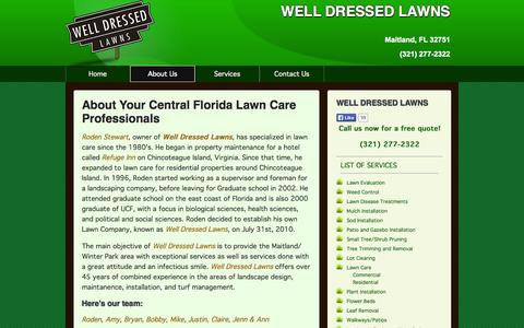 Screenshot of About Page welldressedlawns.com - WELL DRESSED LAWNS  Lawn Care Services :: About - captured Oct. 26, 2014