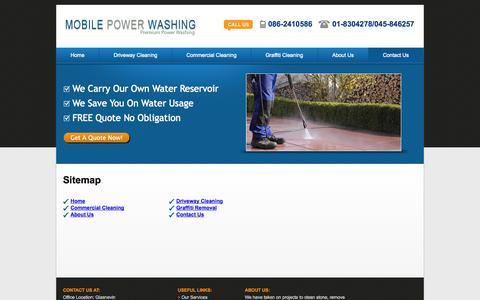 Screenshot of Site Map Page mobilepowerwashing.ie - Mobile Power Washing Sitemap - captured Sept. 25, 2014