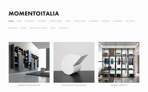 Screenshot of Home Page momentoitalia.com - Modern Italian Furniture   Momentoitalia - captured Nov. 14, 2018