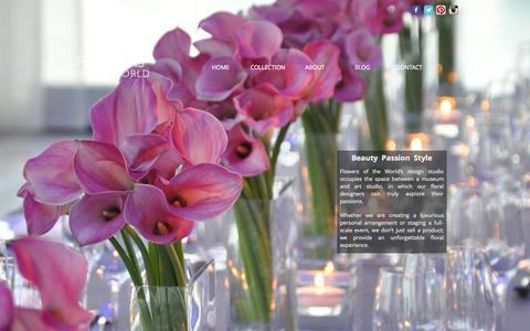Screenshot of Home Page flowersoftheworld.com - Flowers of the World - captured Sept. 30, 2014