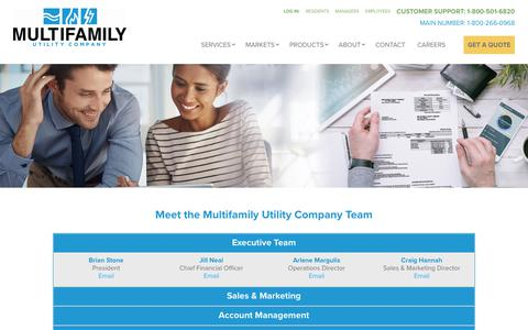 Screenshot of Team Page multifamilyutility.com - Utility Billing and Submetering | Multifamily Utility Company - captured Aug. 18, 2018