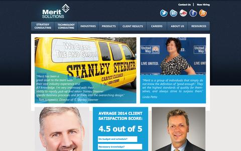 Screenshot of Case Studies Page meritsolutions.com - Client Results - Merit Solutions, Inc. - captured Oct. 27, 2014