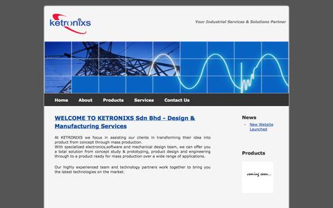 Screenshot of Home Page ketronixs.com - Ketronixs Sdn Bhd - Electronic Design Services - captured Oct. 6, 2014
