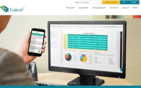 Screenshot of Home Page trakref.com - Refrigerant Management & Compliance Platform | trakref - captured June 25, 2017