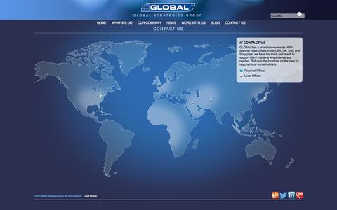 Screenshot of Contact Page globalgroup.com - CONTACT US | GLOBAL STRATEGIES GROUP - captured Oct. 2, 2014
