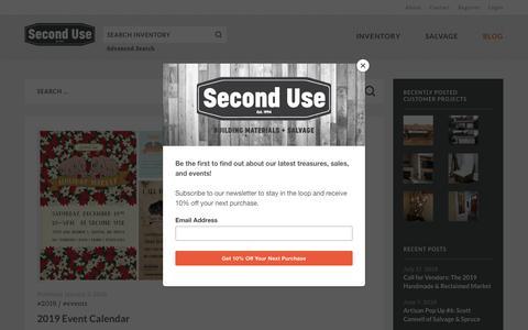 Screenshot of Blog seconduse.com - Blog   Second Use - captured July 25, 2019