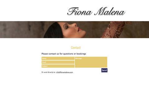 Screenshot of Contact Page fionamalena.com - Fiona Malena | Contact - captured Oct. 13, 2017
