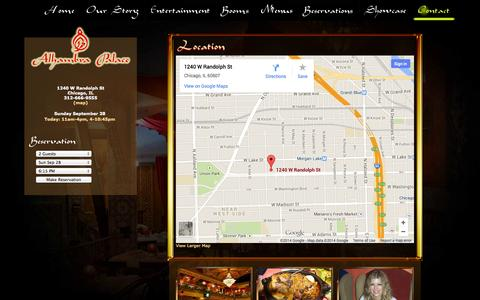 Screenshot of Maps & Directions Page alhambrapalacerestaurant.com - Location - captured Sept. 30, 2014