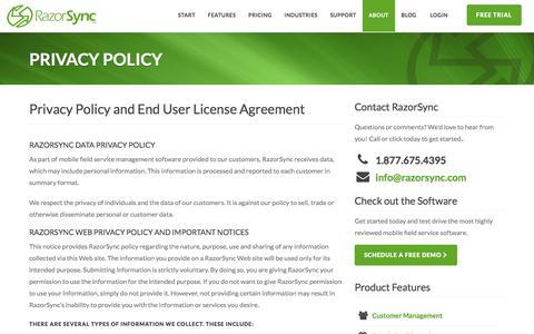 RazorSync - Privacy Policy