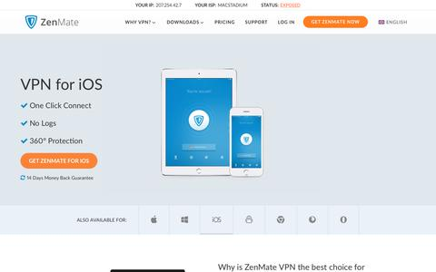 iOS VPN by Zenmate ‒ Internet Security and Privacy