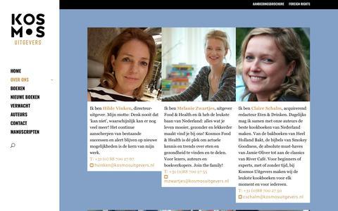 Screenshot of Team Page kosmosuitgevers.nl - TEAM - Kosmos Uitgevers - captured Sept. 20, 2018