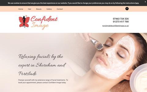 Screenshot of Blog mobileconfidentimage.co.uk - Relaxing facials | Confident Image - captured Sept. 29, 2018
