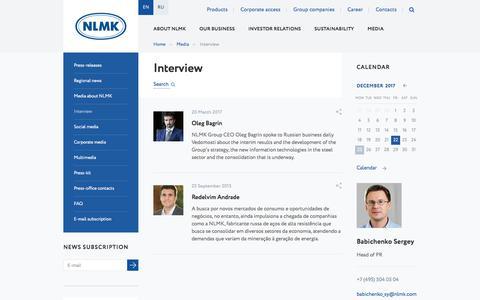 Screenshot of nlmk.com - Interview - captured Dec. 25, 2017