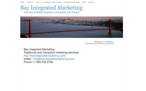 Screenshot of Contact Page bayintegratedmarketing.com - BayIntegratedMarketing,tools, tactics, strategy,employing, great - captured Sept. 30, 2014