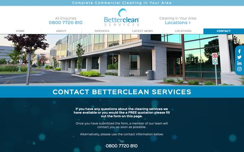 Screenshot of Contact Page bettercleanservices.co.uk - Contact Betterclean Services | Torquay | Newton Abbot - captured Nov. 13, 2018