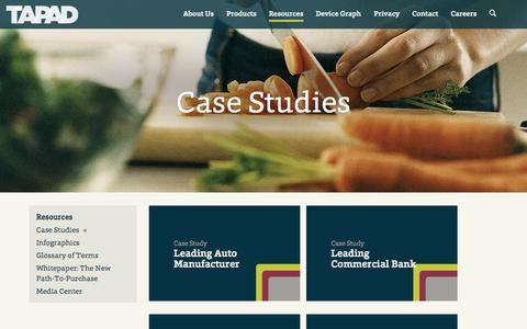 Screenshot of Case Studies Page tapad.com - Tapad  |  Resource Types  |  Case Studies - captured Sept. 17, 2014