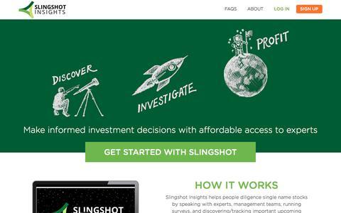 Screenshot of Signup Page slingshotinsights.com - Slingshot Insights - captured Dec. 6, 2016