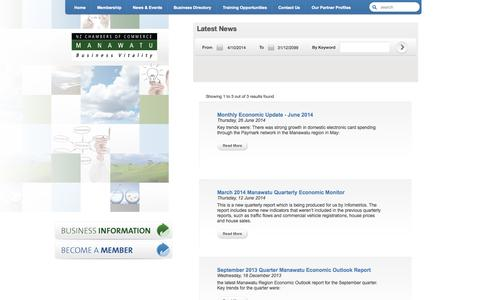 Screenshot of Press Page manawatuchamber.co.nz - Announcements from Manawatu Chamber of Commerce | Palmerston North Business Consultants & Service Manawatu Business Consultants & Services - captured Oct. 4, 2014