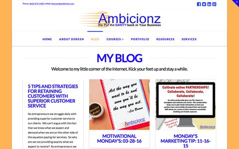 Screenshot of Blog ambicionz.com - Blog - Ambicionz - captured May 30, 2017