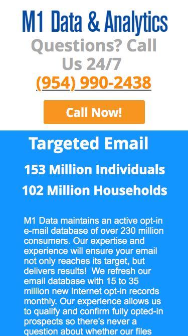 M1 Data & Analytics   Targeted Email Marketing