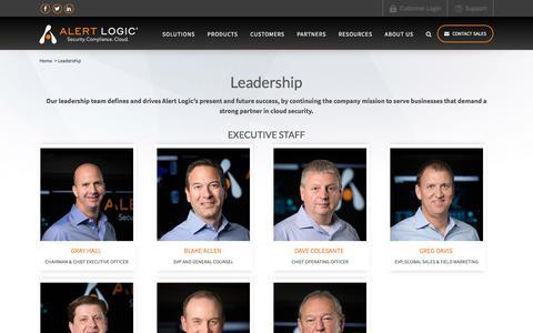 Screenshot of Team Page alertlogic.com - Alert Logic Leadership – Alert Logic Executives   Alert Logic - captured Nov. 30, 2017