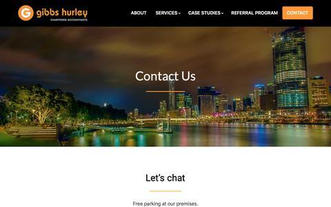 Screenshot of Contact Page gibbsca.com.au - Contact - Gibbs Hurley Pty Ltd - captured Nov. 10, 2018