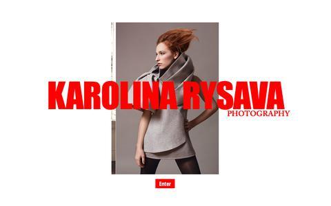 Screenshot of Home Page karolinarysava.com - Lifestyle & Portrait   Karolina Rysava Photography - captured Oct. 14, 2018