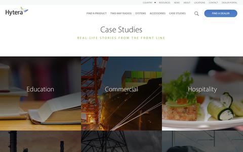 Screenshot of Case Studies Page hytera.us - Case Studies | Hytera - captured Sept. 20, 2017