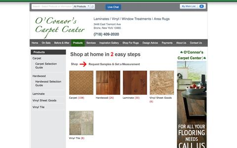 Screenshot of Products Page oconnorscarpets.com - Products O'Connor's Carpet Center   O'connor's Carpets - captured Oct. 27, 2014