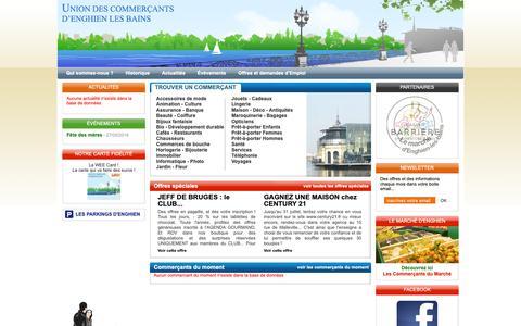 Screenshot of Home Page commerces-enghienlesbains.fr - Commerçants, artisans, professions libérales et services à Enghien les bains, union des commerçants d'Enghien les Bains, val d'oise 95 - captured Oct. 25, 2018