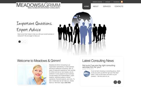 Screenshot of Home Page meadowsgrimm.com - Meadows & Grimm Small Business Services & Restaurant Consulting | New York, New Jersey, Connecticut, Rhode Island - captured Oct. 6, 2014
