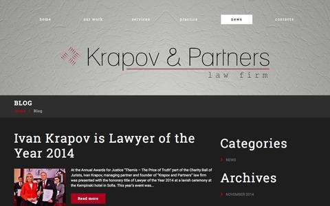 Screenshot of Press Page krapov.com - Krapov | Law Firm - captured Jan. 24, 2016