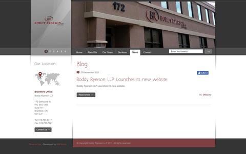 Screenshot of Press Page boddy-ryerson.com - Boddy-Ryerson LLP - captured Oct. 10, 2017