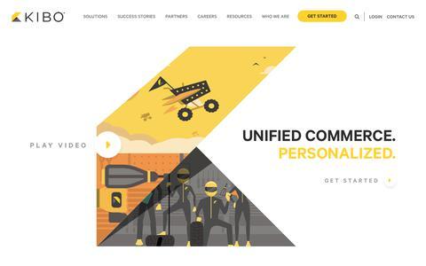 Screenshot of Home Page kibocommerce.com - Kibo Commerce | eCommerce | Order Management | Personalization - captured July 23, 2019