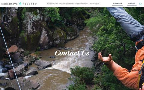 Contact Us | Luxury Travel | Exclusive Resorts