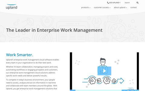 The Leader in Enterprise Work Management | Upland Software