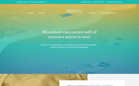 Screenshot of Services Page coastalvi.com - Services – Coastal Vascular & Interventional - captured Aug. 9, 2017
