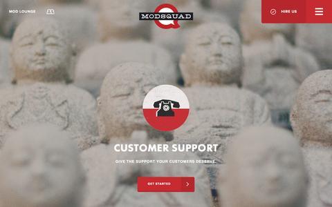 Screenshot of Support Page modsquad.com - ModSquad | Customer Support - - captured June 26, 2016