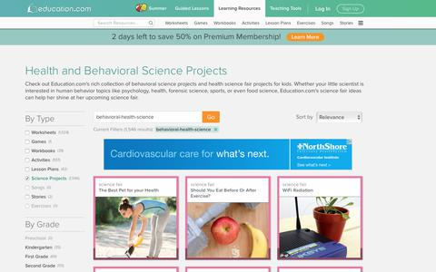 Health and Human Behavior Science Fair Projects | Education.com