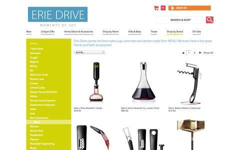 Screenshot of Menu Page eriedrive.com - MENU | Erie Drive - captured Sept. 26, 2014