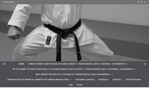 Screenshot of FAQ Page tokonsacramento.com - FAQ   Tokon Martial Arts Sacramento - captured Oct. 19, 2018