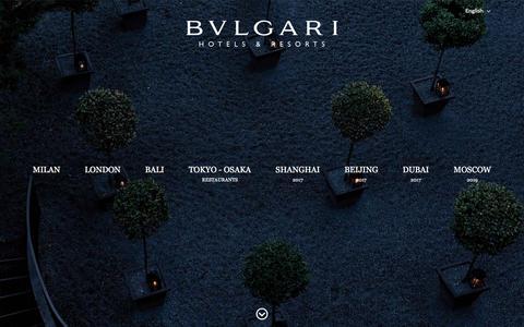 Screenshot of Home Page bulgarihotels.com - Bulgari Hotels & Resorts   Luxury Hotels and Resorts - captured Nov. 6, 2016