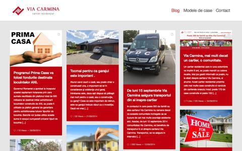 Screenshot of Blog viacarmina.ro - Casa cu gradina de vanzare in cartierul rezidential premium Via Carmina Arad - captured Oct. 7, 2014
