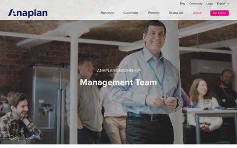 Meet the Board and Management team of Anaplan