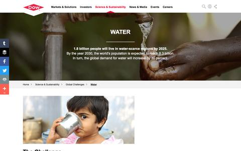Global Challenges: Water | Dow