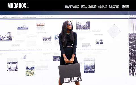 Screenshot of Contact Page moda-box.com - ModaBox - Discover your personality in every box - captured Oct. 29, 2014