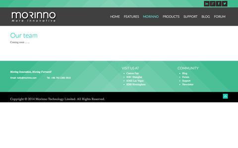 Screenshot of Team Page morinno.com - Our team - captured Oct. 7, 2014